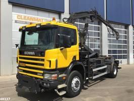 containersysteem vrachtwagen Scania P 124.360 4x4 Atlas 8 ton/meter laadkraan 1997
