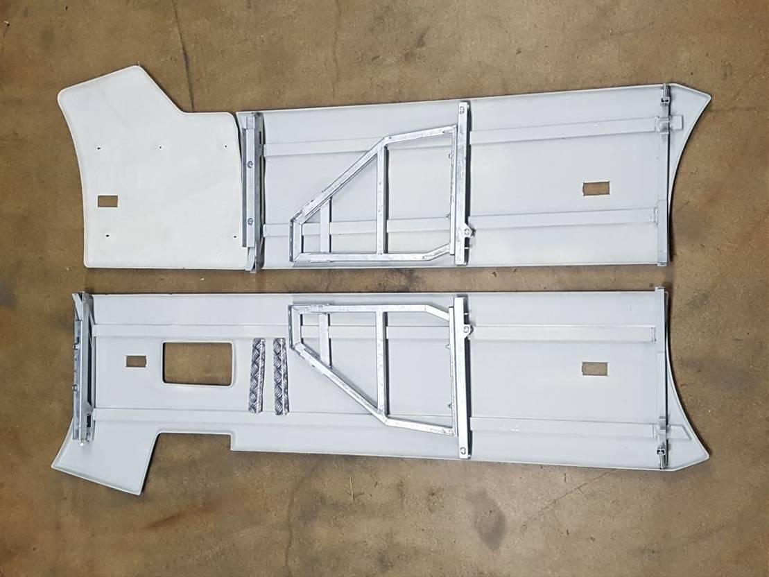 chassis vrachtwagen onderdeel Renault 000091 T-RANGE ZIJSKIRT SET WB 3840 NIET GESPOTEN