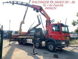 containersysteem vrachtwagen DAF CF 85.510 - 8x4 - CRANE PALFINGER 34002 (8x) WINCH / ROTATOR - HAAK/KRAA... 2011