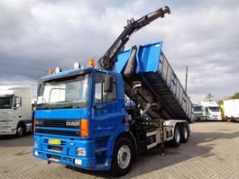 containersysteem vrachtwagen DAF 85 ATI 330 + Manual + PTO + HIAB Crane 1997