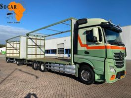 platform vrachtwagen Mercedes-Benz Actros 2542 6x2 + TRIAS 512-200 AANHANGER 2012
