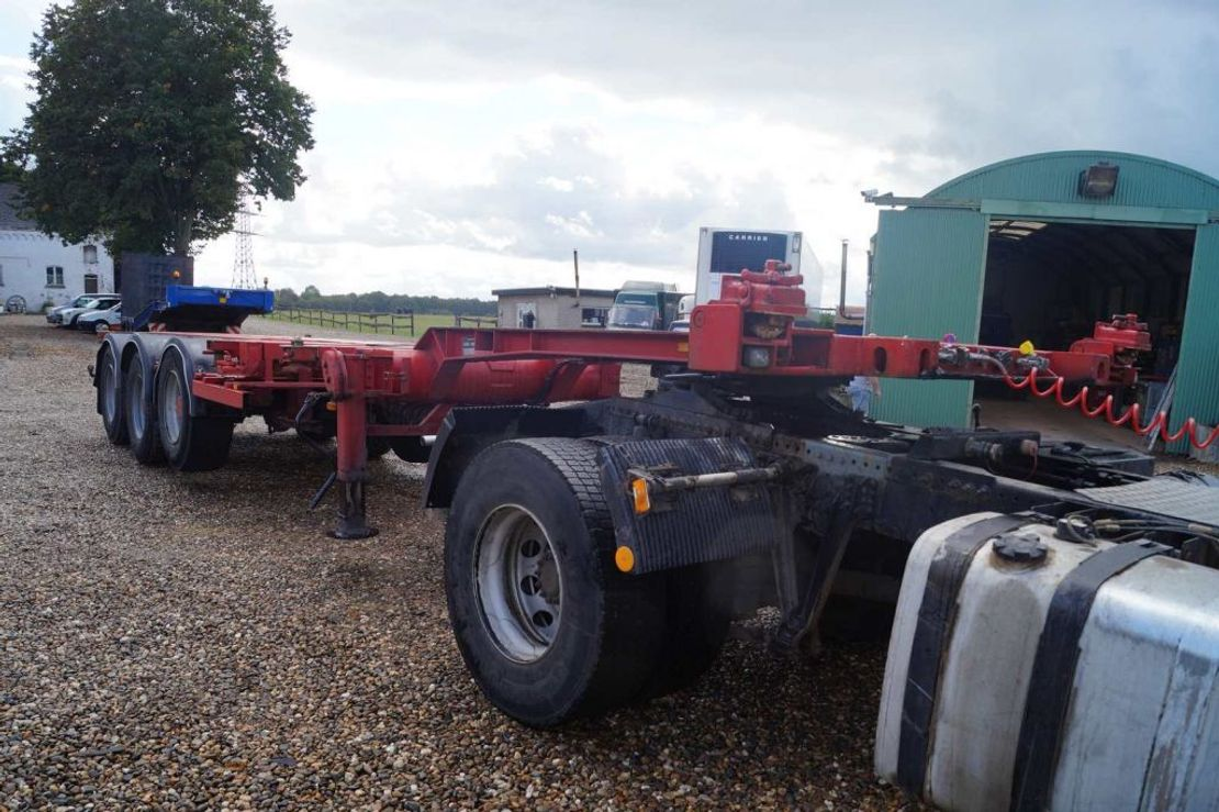 container chassis oplegger Broshuis 3-assige oplegger 1996