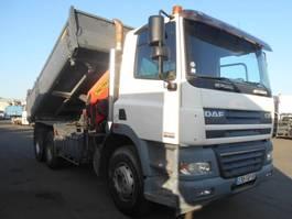 kipper vrachtwagen > 7.5 t DAF CF 85 380 BI-BENNE - GRUE 2007