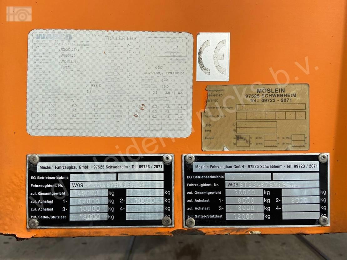 semi dieplader oplegger Diversen MOESLEIN Semi-Dieplader   3x SAF   Ramps   APK 2007