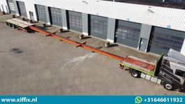 platte oplegger Broshuis 3-ass. Vlakke triple (3x) uitschuifbare oplegger // 3x gestuurd // 36 meter! 2008