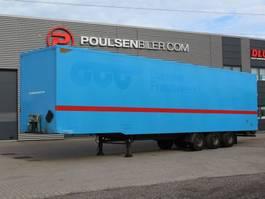 gesloten opbouw oplegger Pacton 3-axle boxtrailer with double-stock 2009