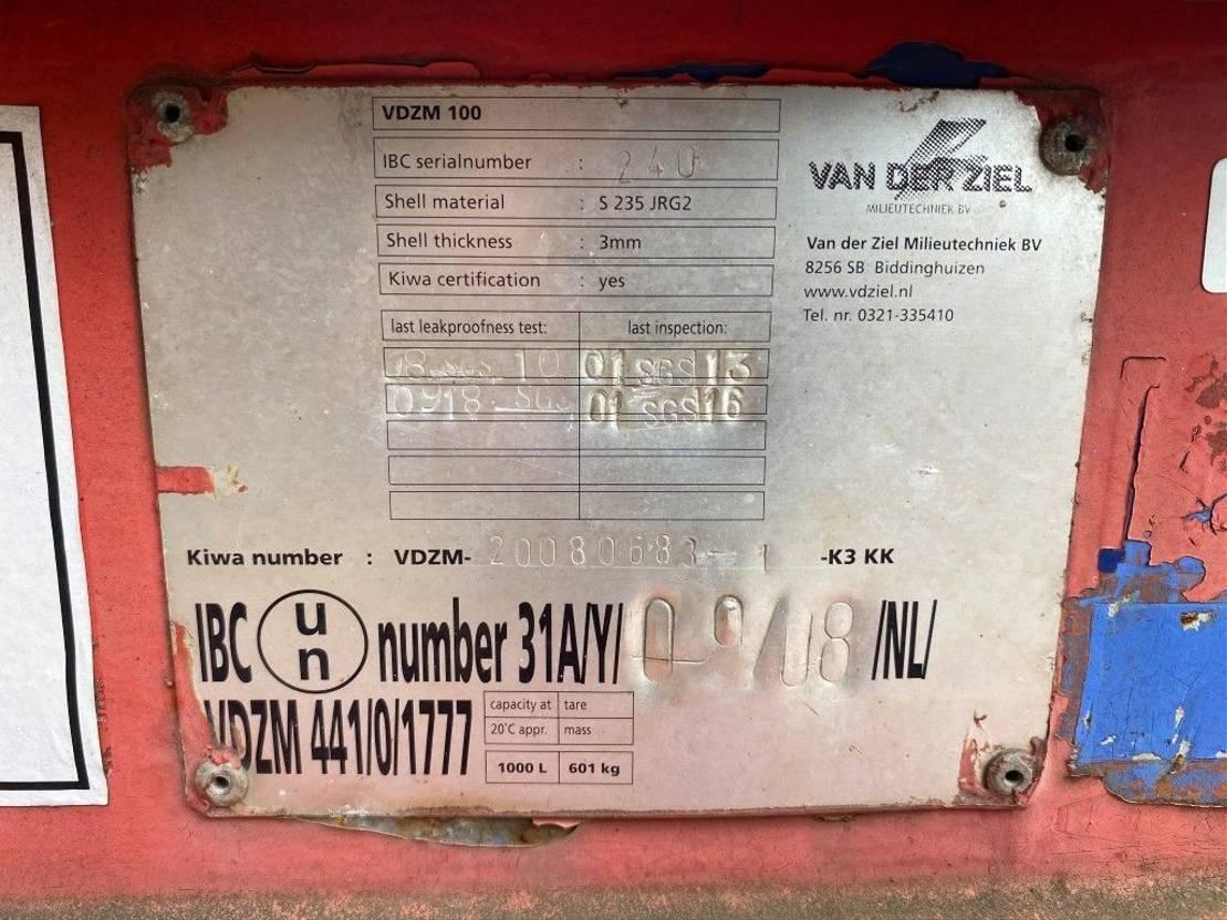 IBC-intermediate bulk container Kiwa IBC 1000 liter dieseltank met keuring ! 2008