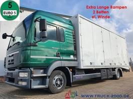 autotransporter vrachtwagen MAN TGL 8.220 geschl.Autransporter extralange Rampen 2012