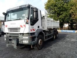 kipper vrachtwagen > 7.5 t Iveco Trakker 410 6x4 meiller bi benne/2-way meiller tipper->125 000KMS 2008