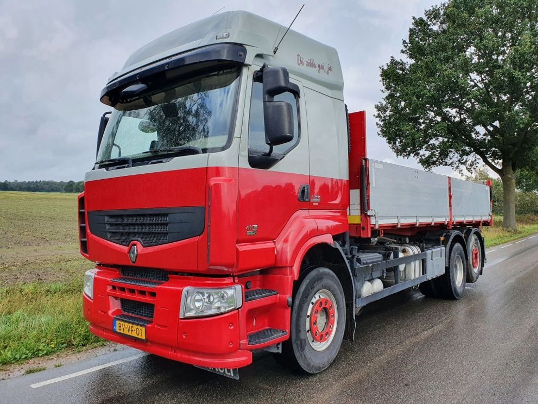 kipper vrachtwagen > 7.5 t Renault PREMIUM LANDER 410.26 6X2 EL 3M 2009