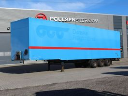 gesloten opbouw oplegger Pacton 3-axle boxtrailer with double-stock 2010