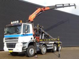 containersysteem vrachtwagen DAF CF 85 410 E5 8x4 / 20TM PALFINGER CRANE + CONTAINER SYSTEM 2008