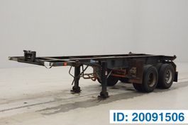 container chassis oplegger Flandria 20 ft skelet 1982