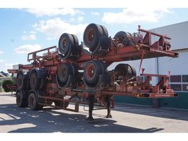 container chassis oplegger Ackermann Fruehauf Container chassis 2-assig / 40ft. / Full Steel 1974