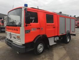 brandweerwagen vrachtwagen Renault S150 **FIRETRUCK-WATERTANK + PUMP + HOSES*** 1990