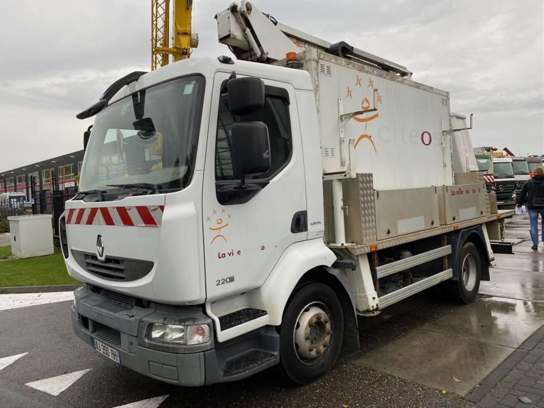 autohoogwerker vrachtwagen Renault MIDLUM 220 DXI EURO 5 + COMILEV AERIAL PLATFORM 17 METER 2010