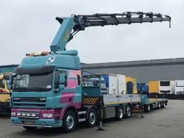 platform vrachtwagen DAF CF 85 460 8x2 PALFINGER 100t/m KRAAN EURO 5 2009