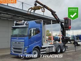 houttransporter vrachtwagen Volvo FH16 750 6X4 XL RETARDER VEB+ Big-Axle Loglift 96S 79R 2014