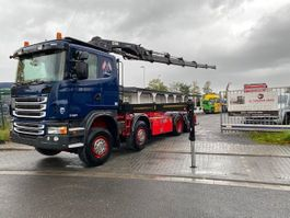 containersysteem vrachtwagen Scania G440 8X2 Container Kran HIAB 288 HIPRO 2010