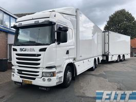 koelwagen vrachtwagen Scania G410 Euro6 6x2 - koel/vries combi, Chereau, 3x laadklep, doorlader 2014