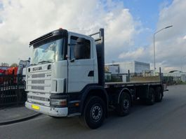 open laadbak vrachtwagen Scania 124 L 470 8X4 / MANUAL GEARBOX / STEELSUSPENSION !! 2003