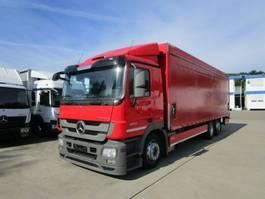 schuifzeil vrachtwagen Mercedes-Benz ACTROS 2541 L Getränkepritsche 8,2m LBW 2 T*LENK 2012
