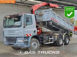 kipper vrachtwagen > 7.5 t DAF CF 85 380 6X4 Manual 3-Seiten Kipper Euro 3 Fassi F130A.22 2006
