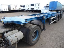 container chassis oplegger Burg 1 x 20 /1 x 30, Tank, ADR gultig 08/2021 2005