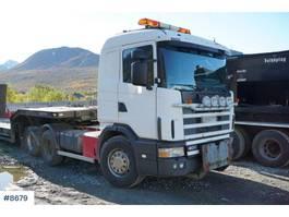 standaard trekker Scania R400 R124 / truck with hydraulics 1996