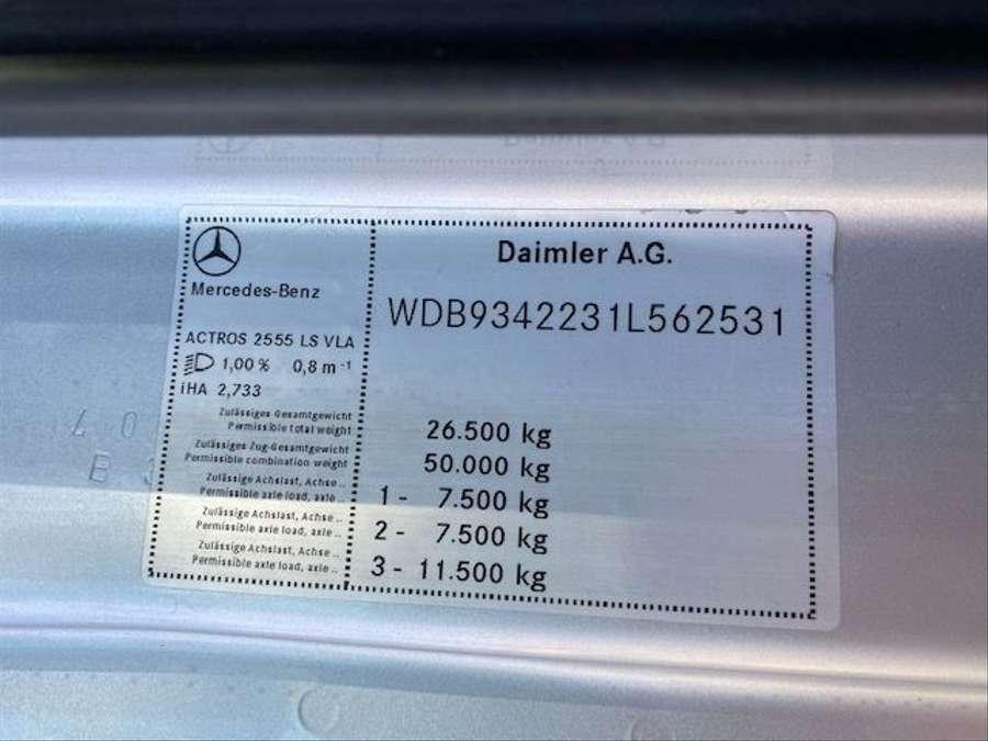 Mercedes-Benz - ACTROS 2555 LS 6x2 MP3-V8-Retarder Fg Nr. L562 27