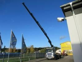 containersysteem vrachtwagen Scania 4 Achser Abroller + Kran 5 x Ausschub , Kupplung