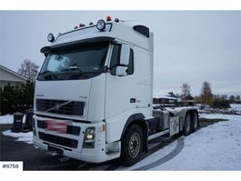 containersysteem vrachtwagen Volvo FH16 550 6x2 Hook lift with 20 h Pallift hook. Rep 2004