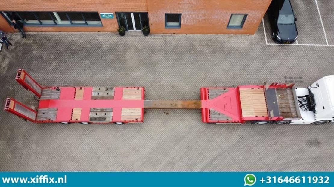 semi dieplader oplegger Faymonville 3-ass. Uitschuifbare semi dieplader met dubbele hydr. Kleppen 2010