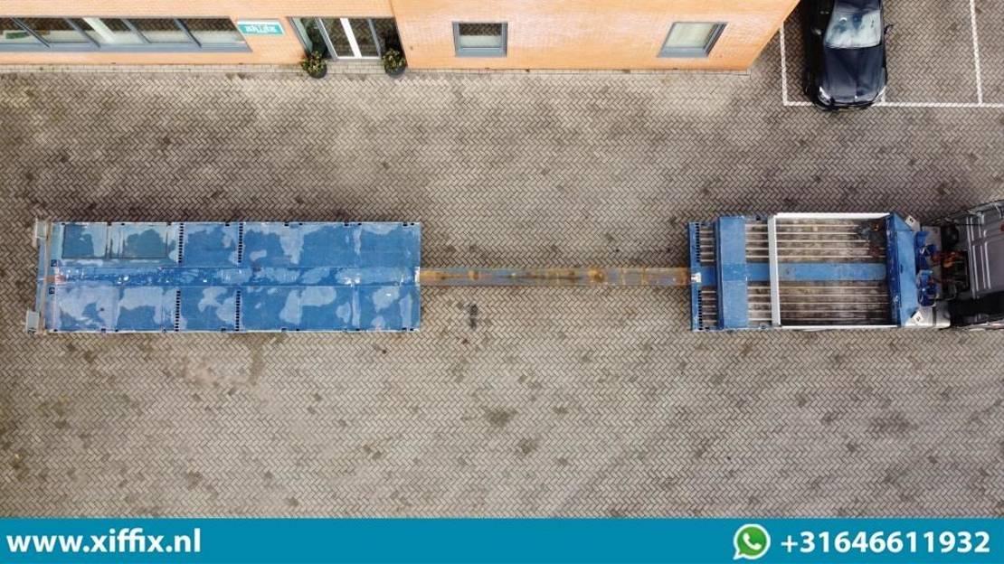 semi dieplader oplegger ES-GE 6-ass. Uitschuifbare semi dieplader // 4x naloop gestuurd 2016