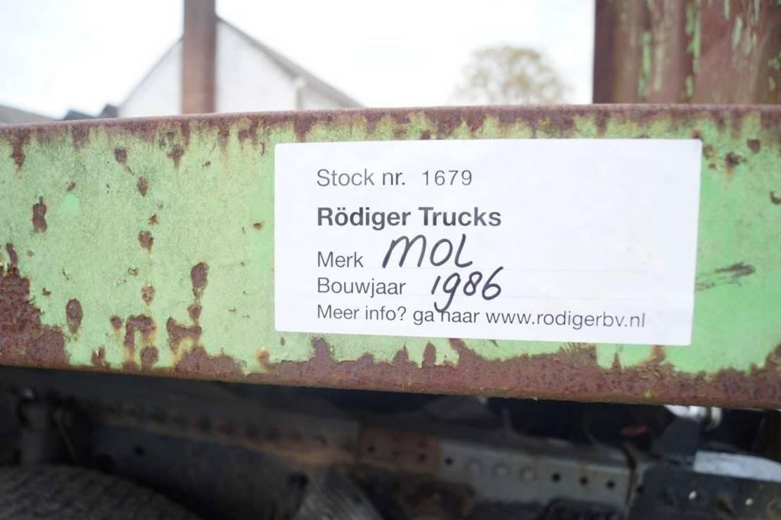 platte oplegger MOL 3-assige oplegger 1986