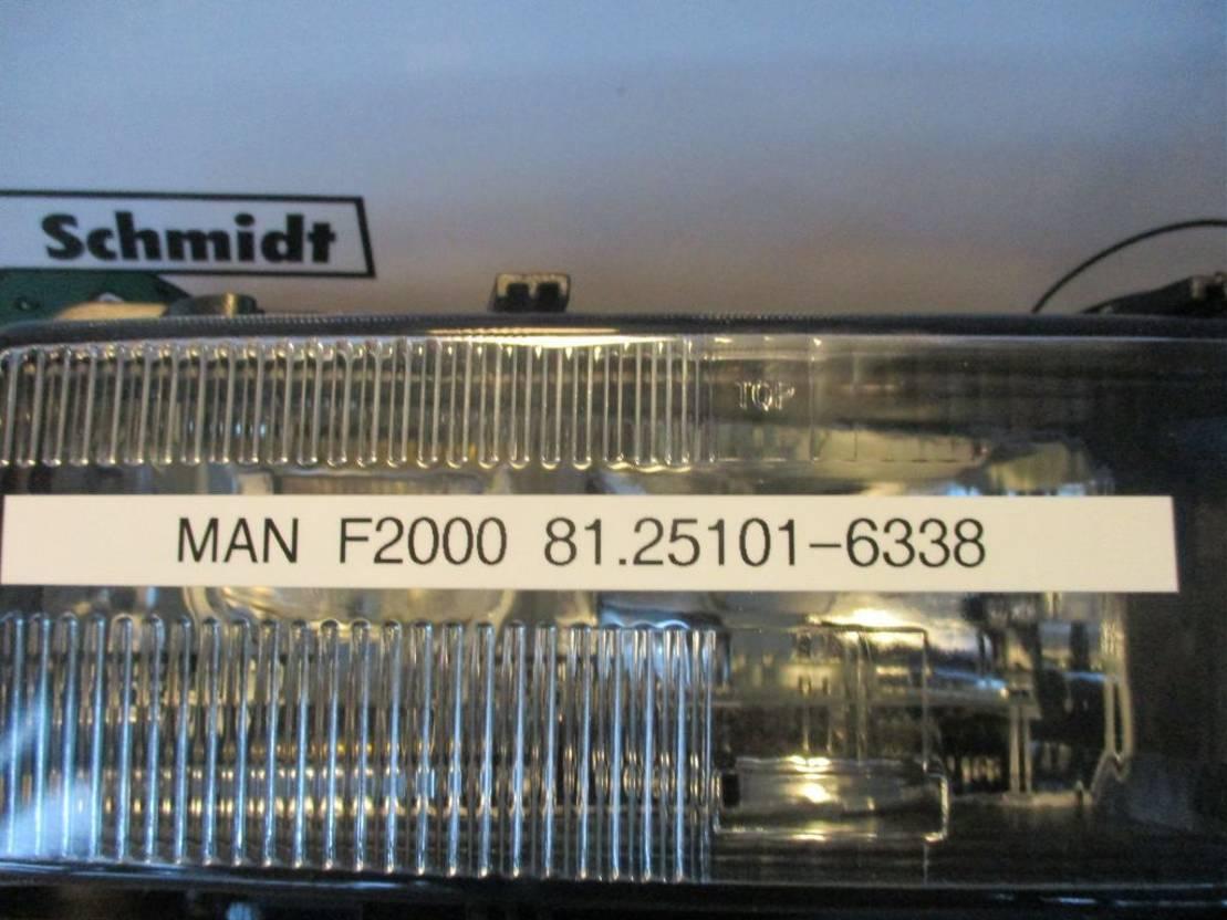 Mistlamp vrachtwagen onderdeel MAN 1.25101-6338 F/M uitvoering nieuwe