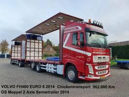 schuifzeil vrachtwagen Volvo FH460 6x2 Schuifzeilen Hefdak Kippentransport Liftas en Stuuras Euro 6 2014