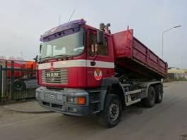 kipper vrachtwagen > 7.5 t MAN FE 410 6X6 KIPPER / MANUAL / STEEL / EURO 2 !! 2001
