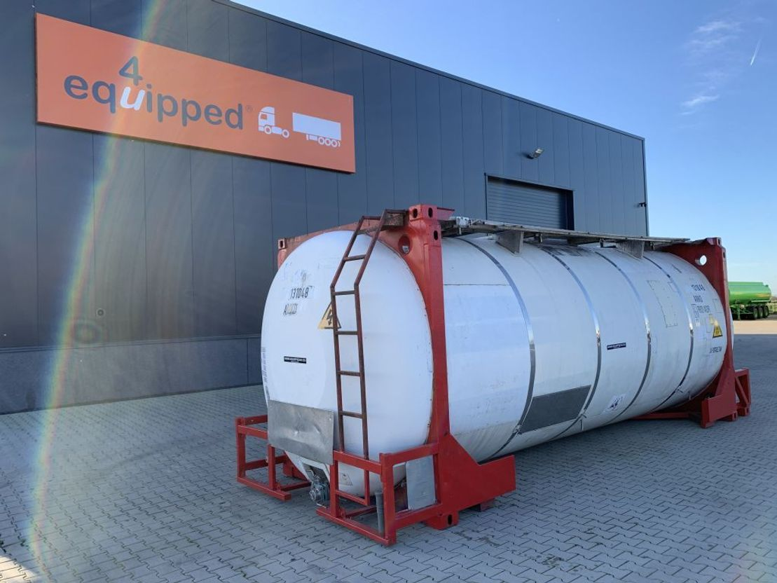 tankcontainer Van Hool 20FT, swapbody TC 31.268L, UN PORTABLE, T7, payload: 31.750kg 1998