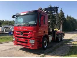houttransporter vrachtwagen Mercedes-Benz ACTROS 3360 6X4 + HIAB 251S80 WOOD CRANE 2013