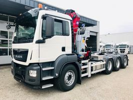 containersysteem vrachtwagen MAN TGS 35.430 8x4-4 BL kraan+haak 2020