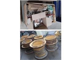 banden equipment onderdeel Komatsu HM400-3 7 used rims & unused parts 2014
