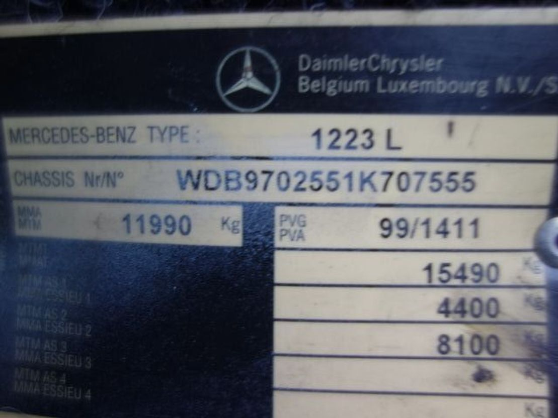 touringcar Mercedes-Benz 1223 LB 2001