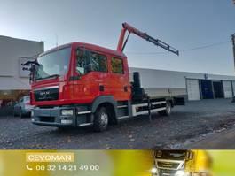 open laadbak vrachtwagen MAN TGL 8 .220 Doka / Dubbel cabine kraan Palfinger PK3400 2010