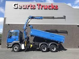 kipper vrachtwagen > 7.5 t MAN TGS 26 400 6X6 KIPPER+KRAAN/KRAN/CRANE/GRUA 2013
