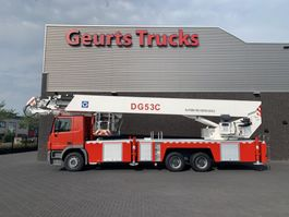 autohoogwerker vrachtwagen Mercedes-Benz Actros 6X4 XCMG DG53C FIRE FIGTHING PLATFORM 53 METER 2012