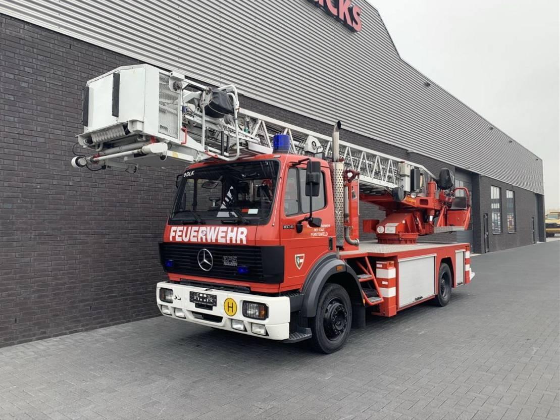 autohoogwerker vrachtwagen Mercedes-Benz SK 1838 camiva DLK 23/12 1992