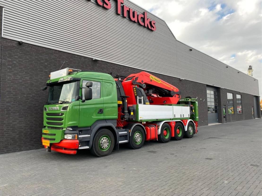 kraanwagen Scania R580 V8 10X4 + PALFINGER PK 200002 + JIB 200 T/M KRAAN/KRAN/CRANE/GRUA 2014