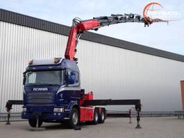 kraanwagen Scania R490 6x4 Fassi 60TM Kraan, Crane, Kran + Fly Jib 2014