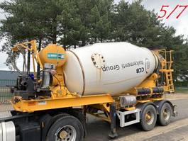 betonmixer oplegger MOL 7x  MOL (5/7) LT AUTOMIX AM 10m³ - BELGISCHE PAPIEREN / PAPIERS BELGES - 2 AS BPW - LUCHTVERING - IMER AUTOMIX 2009